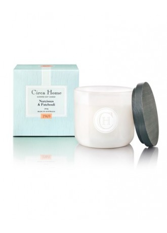 Circa  Home Soy Jar Candle-Narcissus & Patchouli