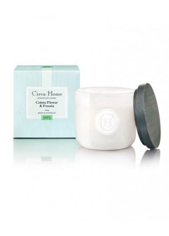 Circa Home Soy Jar Candle-Cotton Flower & Freesia