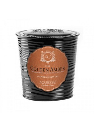 AQUIESSE Golden Amber Black Candle Tin
