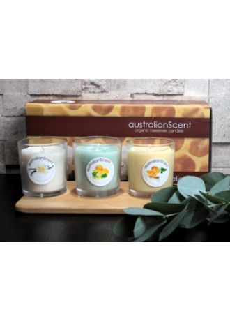australianScent Beeswax Candle Box Trio