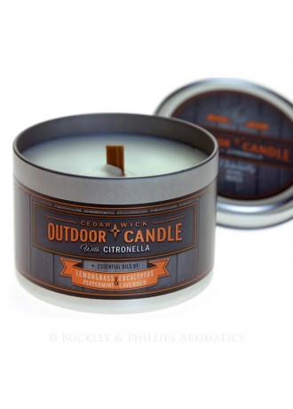 Gumleaf Outdoor Tin Candle *New