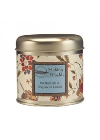 Hidden World Indian Silk Candle Tin